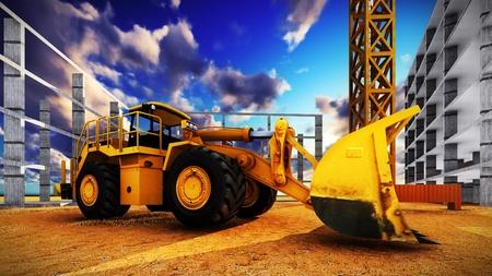 Verschillende machines op de bouwplaats