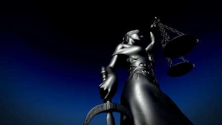 Themis avec échelle et épée rendu 3d Banque d'images - 79058907