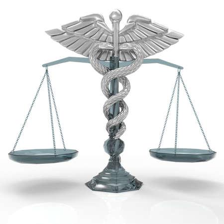 Conceptual idea of justice in medicine Stock Photo