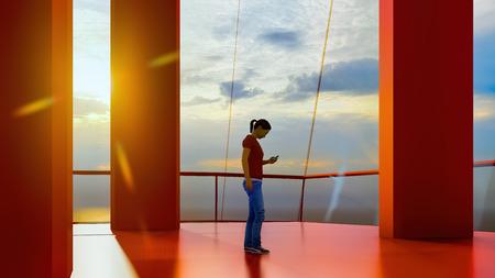 Ogromny luksusowy statek wycieczkowy renderowania 3d Zdjęcie Seryjne