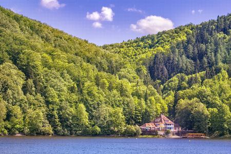 bystrzyckie lake in zagorze slaskie in Poland