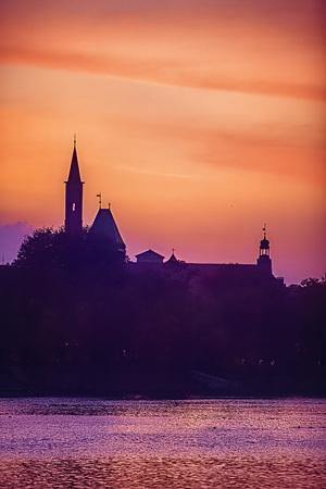 Cathedral Island in Wroclaw, Poland 版權商用圖片