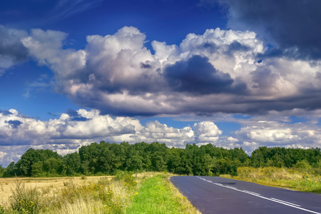 Beautiful landscape in Southern Poland near Walbrzych 版權商用圖片