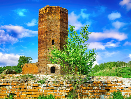 Ruins of ancient tower in Poland