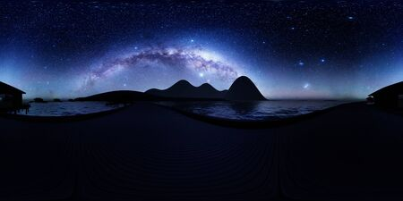Panorama of the coast of Tahiti 3d rendering
