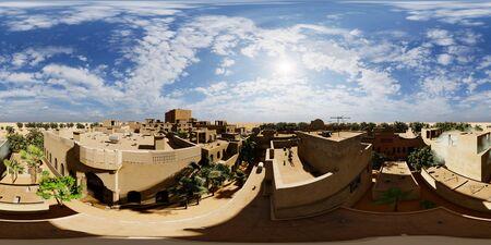 Arabic small town on desert, 3d rendering Reklamní fotografie