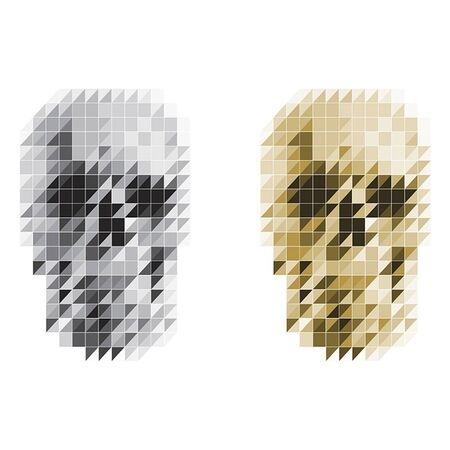 pixelized skull