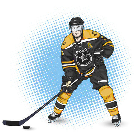 Ice hockey player 向量圖像