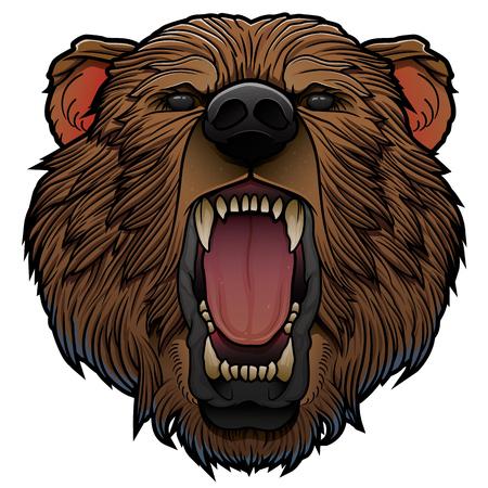 roaring bear head