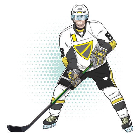 ice hockey player Illustration
