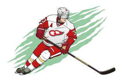 ice hockey player Stock Photo