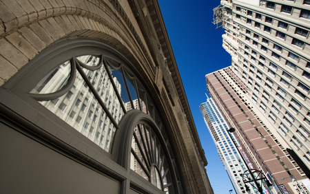 architectural detailing: New and old architectural styles in Downtown Denver, CO  Editorial