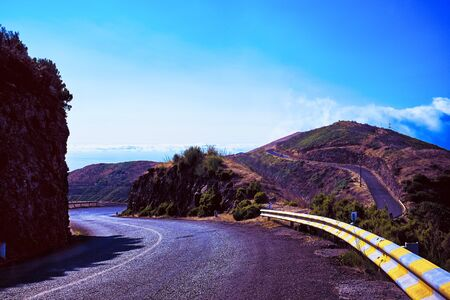 Awesome mountain road in beautiful light scene