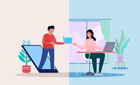 file transfer illustration concept