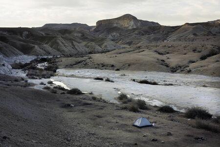 judean: Lonely Tent, Judean Desert Stock Photo