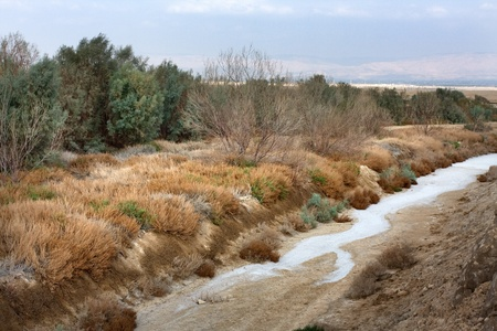 Drought, Empty Ditch near Dead Sea photo