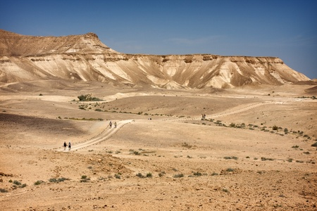 nahal: Tourists walking in Couples near Dead Sea