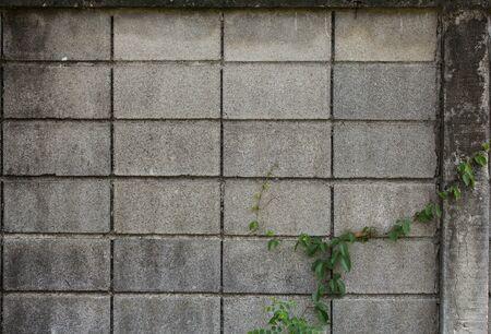 weed block: Old brick wall block Stock Photo