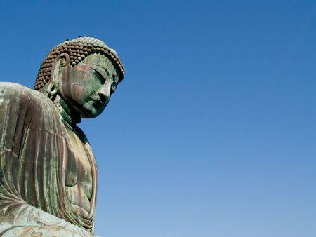 Daibutsu, large buddha in kamakura city, Japan. Banco de Imagens