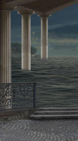 Pillar - Italian imagination collection of surreal Stock Photo - 5227078