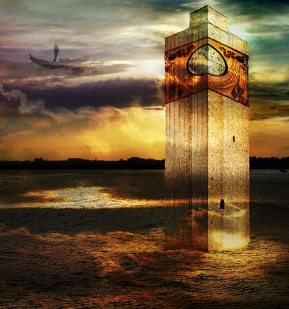 dreamscape: Tower In Italy - Italian imagination collection of surreal