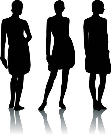 craze: Silhouette woman