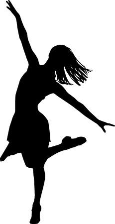 danseres silhouet: Dancer silhouet  Stock Illustratie