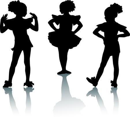 craze: Small ballerinas Stock Photo