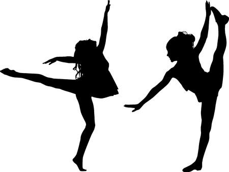 craze: Silhouette dance children
