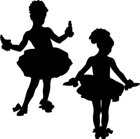 Small ballerinas photo