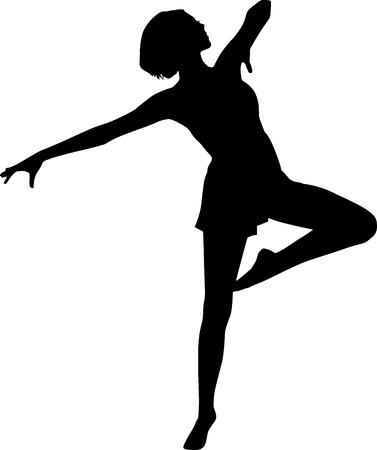 sagoma ballerina: Silhouette ballerino Archivio Fotografico