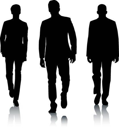 silueta hombre: Hombres de moda de silueta