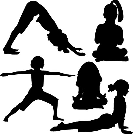 Child`s yoga and gymnastics