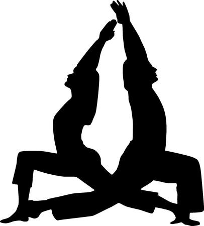 power yoga: Couple yoga