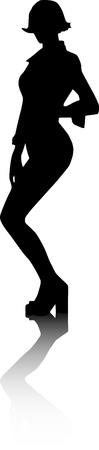 Vector - Silhouette fashion girls Vector