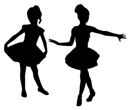 Kleine Ballerinas Vektorgrafik