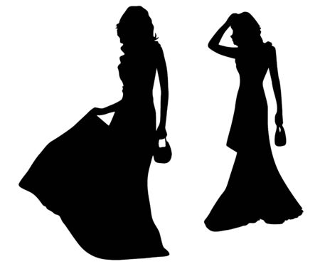 craze: Fashion silhouettes of girls