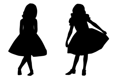girl silhouette: Childs fashion