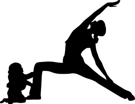 Baby yoga Vector