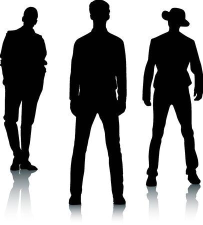 lad: Silueta de los hombres de la moda