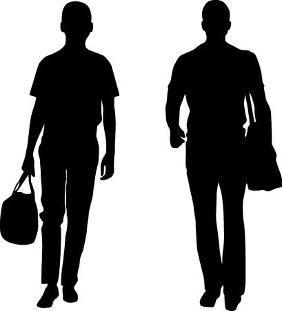 craze: Silhouette men Illustration