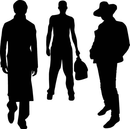 Silhouette fashion men Stock Vector - 14100040