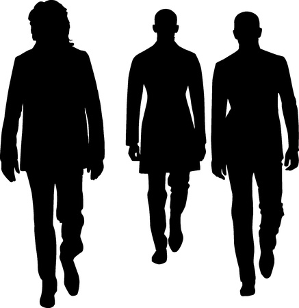 Silhouette fashion men Stock Vector - 14100047