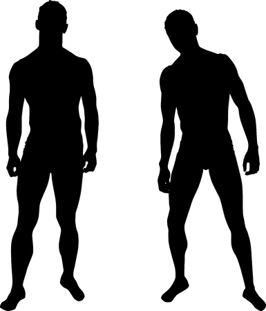 Silhouettes of men Illustration