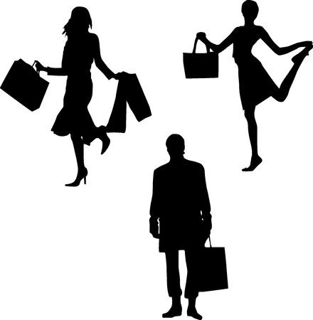 mania: Shopping mania - men and women Illustration