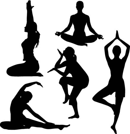 supple: Silhouette of yoga
