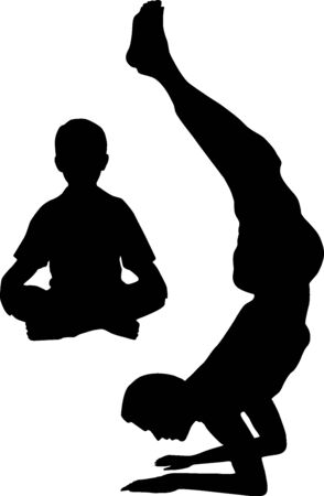 collectivity: Yoga with dad Illustration