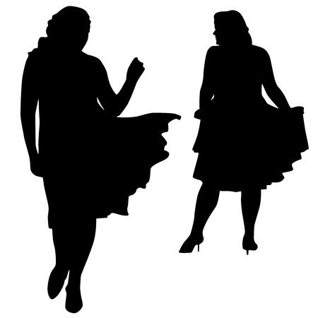 corpulent: Silhouettes of fashion XXL women