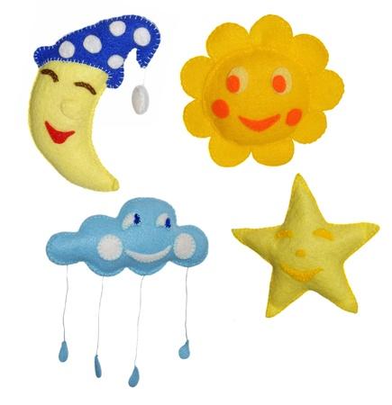 4 Felt toys