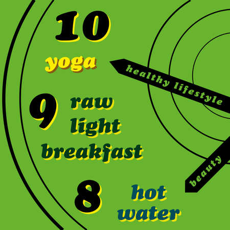 norm: Healthy lifestyle - yoga, raw light breakfast, hot water